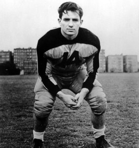 Jack Kerouac as a young football star. He also starred in track as a sprinter.